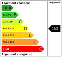 Consomation énergie : 163